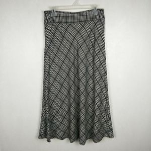 East 5th Plaid Wool Long Skirt Houndstooth